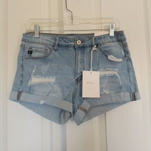 Nwt Kancan Distressed Denim Jean Shorts